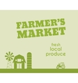 Eco and organic background Farmer s market poster vector image vector image