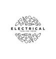 electrical tool symbol logo design template vector image