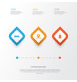 exploration icons set collection of suitcase vector image