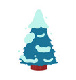 fir-tree covered with snow vector image vector image