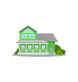 flat icon of beautiful three-storey house vector image