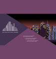 flat night urban landscape composition vector image vector image