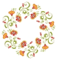 Floral wreath Flower border frame indian theme vector image vector image
