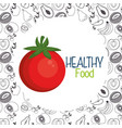 fresh tomato vegetarian food vector image