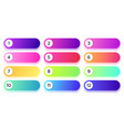 gradient buttons with numbers in different color vector image vector image