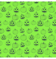 Green halloween print seamless pattern with vector image vector image