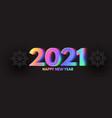 Happy new 2021 year elegant design with neon
