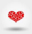 heart hearts icon flat vector image vector image