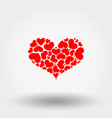 heart of hearts icon flat vector image vector image