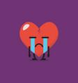 heartbroken characters emoji vector image vector image