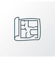 House plan icon line symbol premium quality