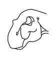 iguanodon icon doodle hand drawn or black outline vector image vector image