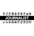 journalist reporter minimal infographic banner vector image