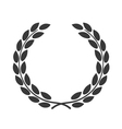 laurel wreath symbol achievement vector image