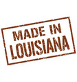 made in louisiana stamp vector image vector image