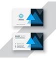 modern minimal blue business card design vector image vector image