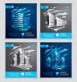 office buildings brochures set modern vector image