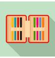 open pencil box icon flat style vector image