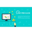 Pay per click Internet vector image vector image