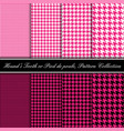 pink and black collection seamless hounds vector image