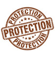 protection brown grunge stamp vector image vector image