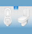 realistic toilet mockup closeup white modern vector image
