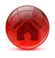 Red home icon vector image