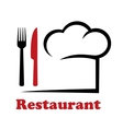 restaurant icon vector image vector image