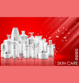 set of skin care natural beauty product packaging vector image