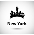 silhouette new york usa vector image vector image