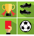 Soccer icon set I vector image