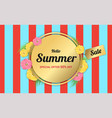 summer flowers gold frame or summer floral design vector image vector image