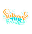 summer time letteriing vector image