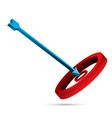 target board with arrow vector image vector image