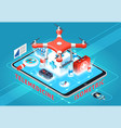 telemedicine isometric composition vector image vector image