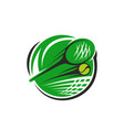 tennis icon racket and ball for sport club vector image