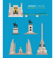 Thailand Monuments and Statues Objects Set vector image
