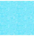 Thin Line Light Blue Construction Seamless Pattern vector image vector image