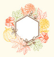 vintage floral frame for seasonal fall sale vector image vector image