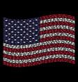 waving united states flag stylization of fish vector image vector image