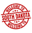 welcome to south dakota red stamp vector image vector image
