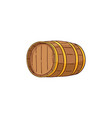 wooden alcohol barrel wiskey rum wine vector image