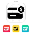 Amount credit card icon vector image