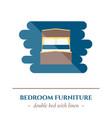 flat sleep icon vector image