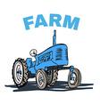 Farm Tractor Grunge T-shirt Print Design vector image
