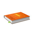 book on electronics with bookmark vector image
