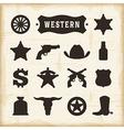 Vintage Western Icons Set vector image