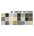 24 seamless tartan patterns vector image
