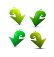 Abstract Green Arrows Set vector image vector image