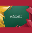 abstract red yellow green background vector image vector image